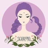 Scorpione della ragazza dello zodiaco Fotografia Stock
