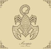 Scorpione dello zodiaco Fotografia Stock Libera da Diritti