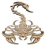 scorpione di legno 3D Immagine Stock