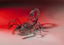 Scorpione metallico Immagini Stock