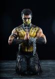 Scorpione professionale di body art e di trucco Fotografie Stock