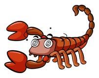 Scorpione vertiginoso su fondo bianco royalty illustrazione gratis