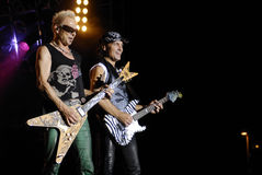 The Scorpions band. Rudolf Schenker and Matthias Jabs of The Scorpions band perform in Ottawa, Ontario, Aug.28. 2008 Stock Images