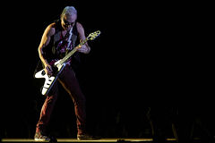 Scorpions band performing live at stadium Royalty Free Stock Images
