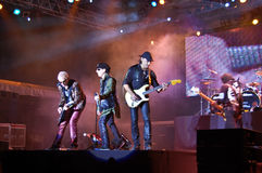 The Scorpions In Concert Stock Images