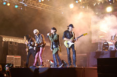 The Scorpions In Concert Royalty Free Stock Photos