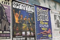 Scorpions concert poster Royalty Free Stock Image
