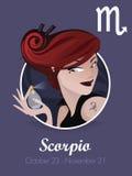 scorpioteckenvektor Stock Illustrationer