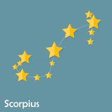 Scorpius Zodiac Sign of the Beautiful Bright Stars Stock Photos