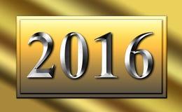 Scorrevole d'argento del segno dell'oro 2016 Immagini Stock Libere da Diritti