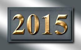 Scorrevole d'argento del segno dell'oro del platino 2015 Fotografie Stock