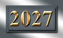 Scorrevole d'argento del segno dell'oro del platino 2027 Fotografia Stock