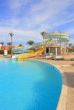 Scorrevoli di Aquapark, parco dell'acqua Immagini Stock Libere da Diritti