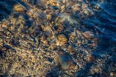 Scorrimenti dell'acqua sopra il letto - fondo Fotografia Stock Libera da Diritti