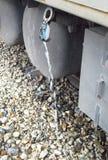 Scorrimento dell'acqua fuori un tubo Fotografia Stock Libera da Diritti