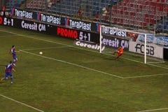 Scors van Stancu van Bogdan voor Steaua Royalty-vrije Stock Foto's