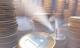 Scorta dei soldi sotto nebbia eplored Immagine Stock