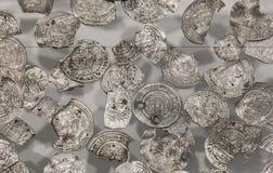 Scorta di Vilaplana Monete d'argento e frazioni di periodo di Caliphal immagini stock