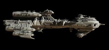 Scorta interstellare Frigate - vista laterale Immagine Stock Libera da Diritti