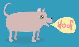 Scortecciamento del cane del fumetto Fotografia Stock Libera da Diritti