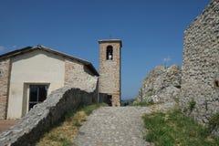 Scorticata medieval fortress, Italy stock photo