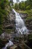 Scorus瀑布,最大在罗马尼亚,首先网的 免版税库存照片