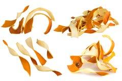 Scorza d'arancia asciutta isolata su fondo bianco Immagini Stock