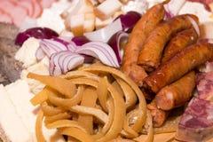 Scorza della carne di maiale, salsiccia Fotografia Stock