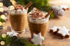 Scossa del caffè per il Natale Fotografie Stock Libere da Diritti
