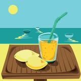 Scossa del mango in un vetro Fotografia Stock