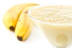 Scossa della banana fotografia stock libera da diritti