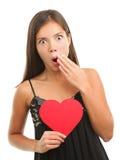Scossa di amore del biglietto di S. Valentino fotografia stock