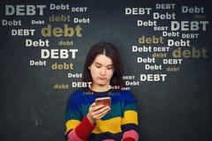 Scossa di debito immagini stock libere da diritti