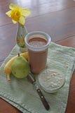 Scossa sana per il pasto di mattina Fotografia Stock Libera da Diritti