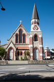 Scot`s Presbyterian Church. Fremantle,WA,AUSTRALIA-NOVEMBER 13,2016: Scot`s Presbyterian Church with old limestone brick architecture on a clear day in Fremantle Royalty Free Stock Image