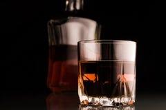 Scotch beverage in glass Stock Photo