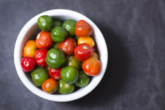 Scotch Bonnet chili peppers Royalty Free Stock Images