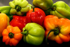 Scotch Bonnet Peppers or chillies still life photograph stock image