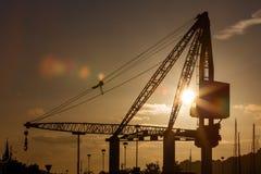 Scotch Derrick crane in Waterford Stock Photo
