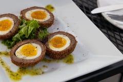 Scotch Egg Appetizer Stock Photo