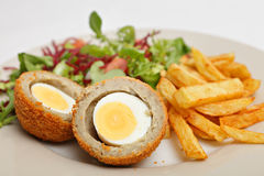 Scotch egg salad closeup Stock Photos