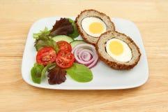 Scotch egg salad Stock Photography