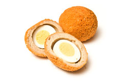 Scotch eggs. Isolated over white background Stock Images