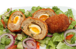 Scotch eggs closeup Royalty Free Stock Images