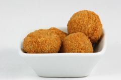 Scotch eggs in a dish Stock Image