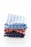 Scotch fabric. On white background Royalty Free Stock Photos