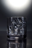 Scotch glass with ice Stock Photos