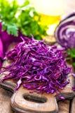 Scotch kale. Shredded on board Royalty Free Stock Photos