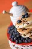 Scotch pancakes with raisins Royalty Free Stock Photos