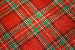 Scotch red fabric Stock Photography